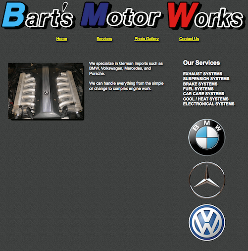 old-website-carshop