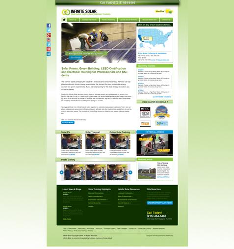 solar company website design