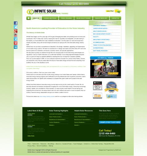 website for solar company